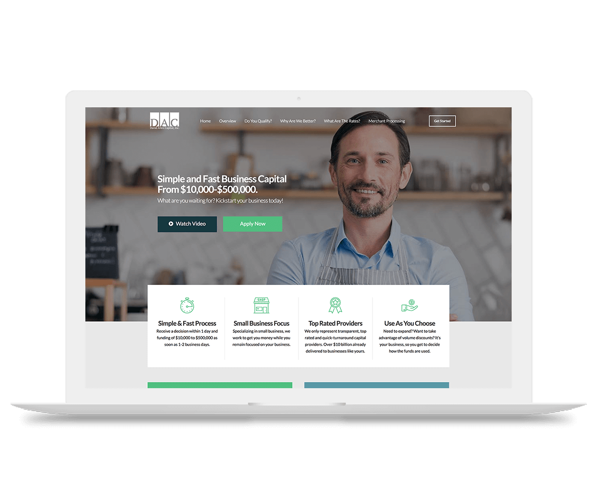 David Allen Capital website redesign and build